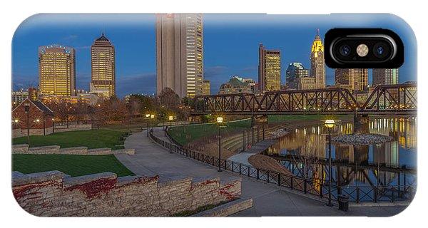 Columbus Ohio Skyline At Dusk IPhone Case