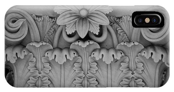 J Paul Getty iPhone Case - Column Capital Detail 2 by Teresa Mucha