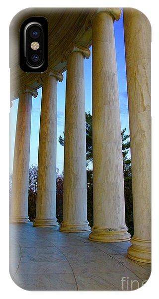 iPhone Case - Columns At Jefferson by Megan Cohen