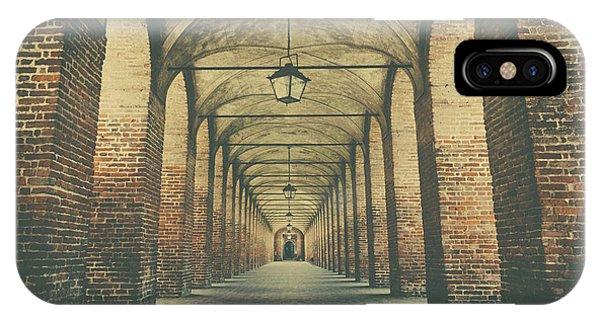 Columns In Sabbionetta, Italy IPhone Case