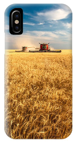 Combines Cutting Wheat IPhone Case