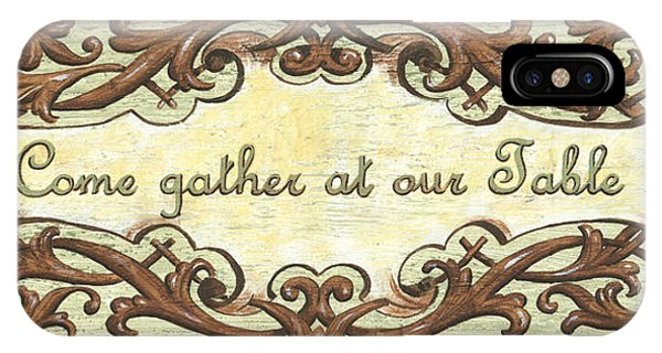 Dinner iPhone Case - Come Gather At Our Table by Debbie DeWitt