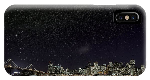 Comet Over San Francisco IPhone Case