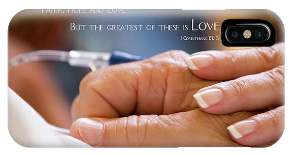 Comforting Hand Of Love IPhone Case