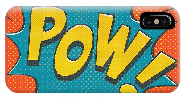Retro iPhone Case - Comic Pow by Mitch Frey