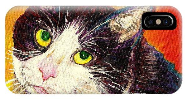 China Town iPhone Case - Commission Your Pets Portrait By Artist Carole Spandau Bfa Ecole Des Beaux Arts  by Carole Spandau