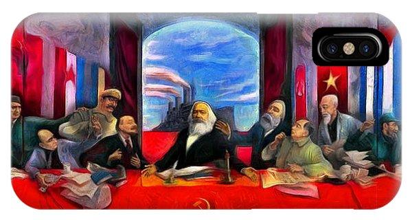 Capitalism iPhone Case - Communist Last Supper - Da by Leonardo Digenio