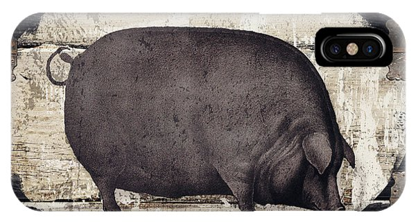 Farm iPhone Case - Compagne II Pig Farm by Mindy Sommers