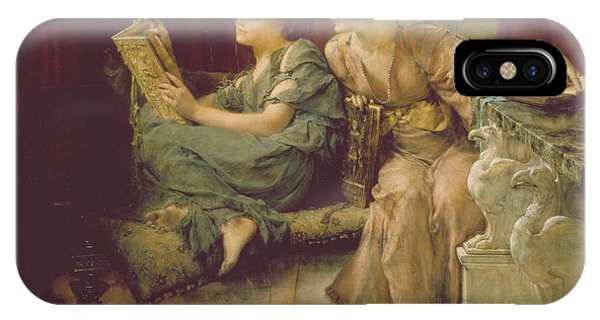 Relaxation iPhone Case - Comparison by Sir Lawrence Alma-Tadema