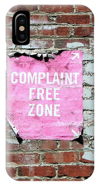 Free iPhone Case - Complaint Free Zone- Fine Art Photo By Linda Woods by Linda Woods