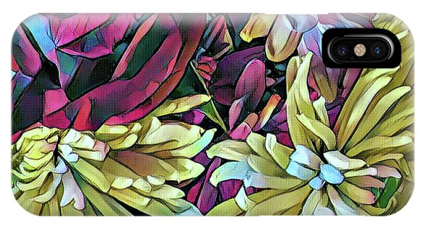 Bouquet iPhone X Case - Complements by Shadia Derbyshire