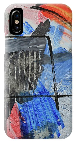 Composition 20188 Diptych Left Panel IPhone Case
