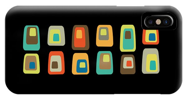 IPhone Case featuring the digital art Concentric Oblongs by Donna Mibus