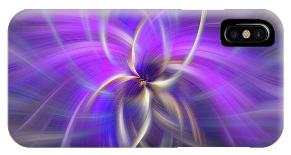 Violet Flame iPhone Case - Concept Spirituality. Square  by Jenny Rainbow