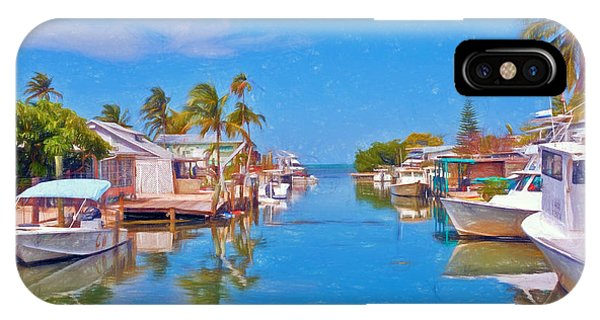 Conch Key Waterfront Living 3 IPhone Case
