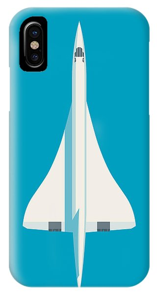 Concorde iPhone Case - Concorde Jet Airliner - Cyan by Ivan Krpan