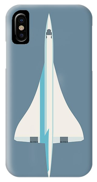 Concorde iPhone Case - Concorde Jet Passenger Airplane Aircraft - Slate by Ivan Krpan