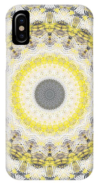 Industrial iPhone Case - Concrete And Yellow Mandala- Abstract Art By Linda Woods by Linda Woods
