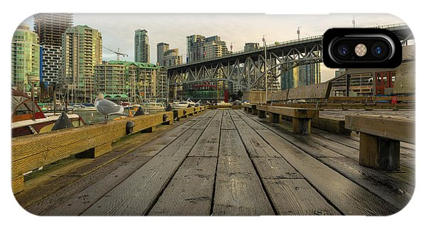 Condominium Buildings Along Granville Island Vancouver Bc IPhone Case