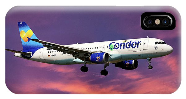Berlin iPhone Case - Condor Airbus A320-212 by Smart Aviation