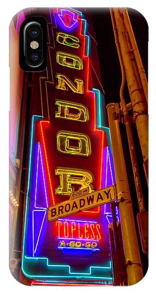 Condor iPhone Case - Condor Neon On Broadway by Garry Gay
