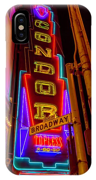 Condor Neon On Broadway IPhone Case