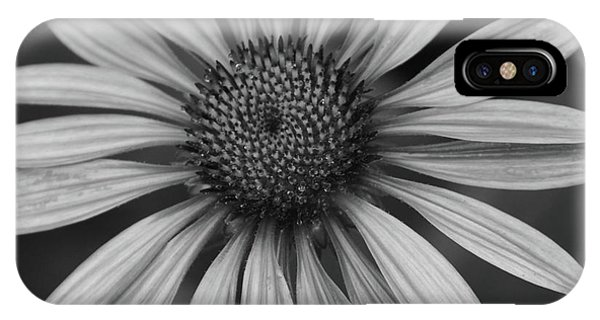 Coneflower In Black And White IPhone Case