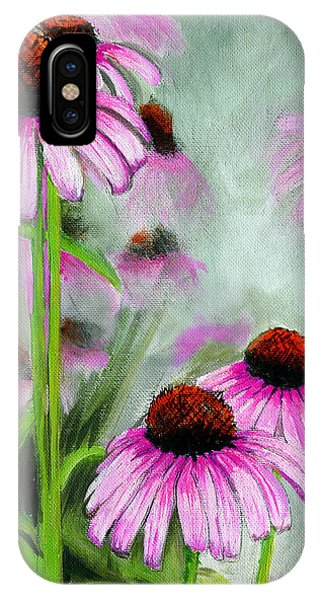 Coneflowers In The Mist IPhone Case