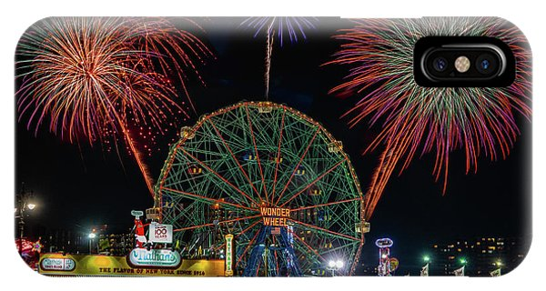IPhone Case featuring the photograph Coney Island At Night Fantasy by Chris Lord