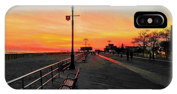 Coney Island Boardwalk Sunset IPhone Case