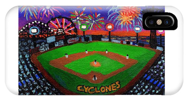 Coney Island Cyclones Fireworks Display IPhone Case