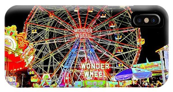 Coney Island Magic In Neon IPhone Case