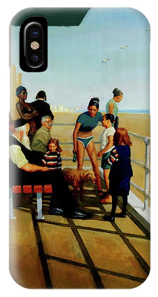 IPhone Case featuring the painting Coney Island by Mel Greifinger