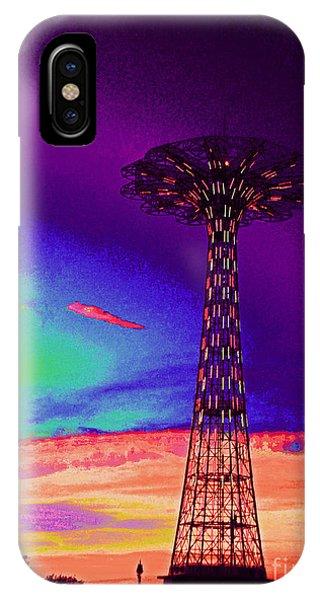 Coney Islands Parachute Jump IPhone Case