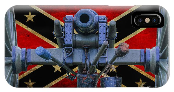 Confederate Flag And Cannon IPhone Case