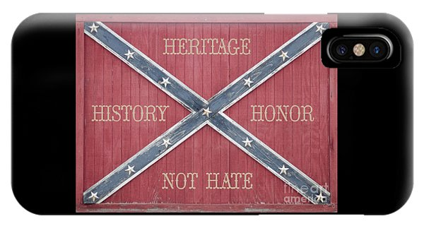 Confederate Flag On Wooden Door IPhone Case