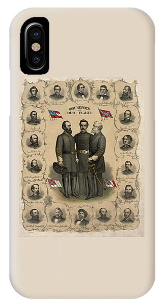 Hero iPhone Case - Confederate Generals Of The Civil War by War Is Hell Store