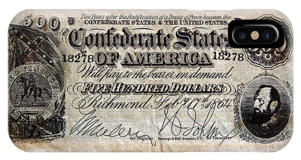 Confederate Money IPhone Case