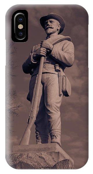 Confederate Statue  Standing Guard IPhone Case