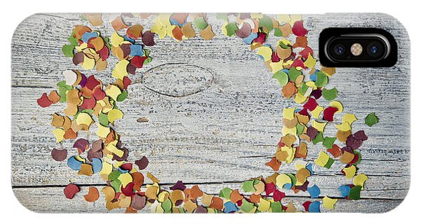 Table iPhone Case - Confetti Circle by Nailia Schwarz