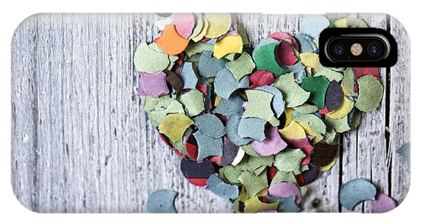 Heart iPhone Case - Confetti Heart by Nailia Schwarz