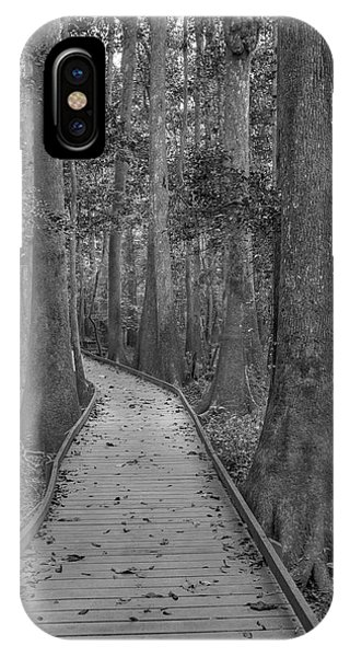IPhone Case featuring the photograph Congaree 2017 03 Bw by Jim Dollar