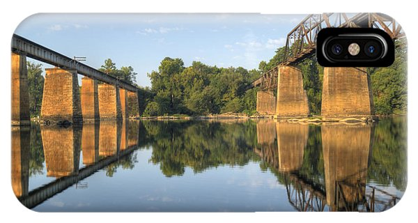 Congaree River Rr Trestles - 1 IPhone Case
