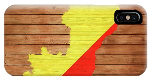 Traveler iPhone Case - Congo Rustic Map On Wood by Dan Sproul