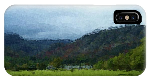 Coniston Watercolour Sketch IPhone Case