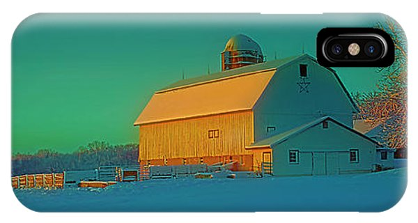 Conley Rd White Barn IPhone Case