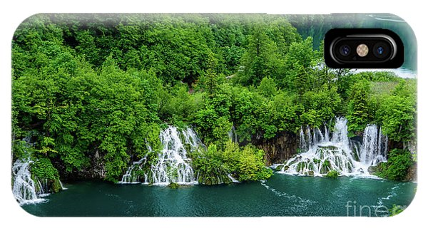 Connected By Waterfalls - Plitvice Lakes National Park, Croatia IPhone Case