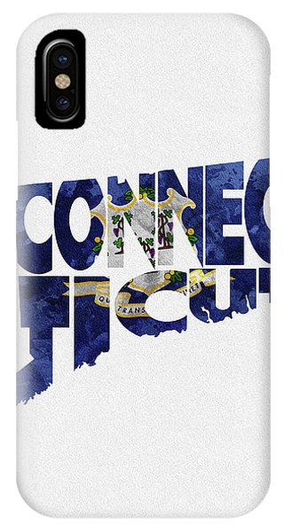 Stamford iPhone Case - Connecticut Typographic Map Flag by Inspirowl Design