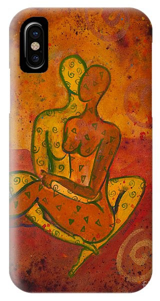 Lgbt iPhone Case - Connection Divine Love Series No. 1001 by Ilisa Millermoon