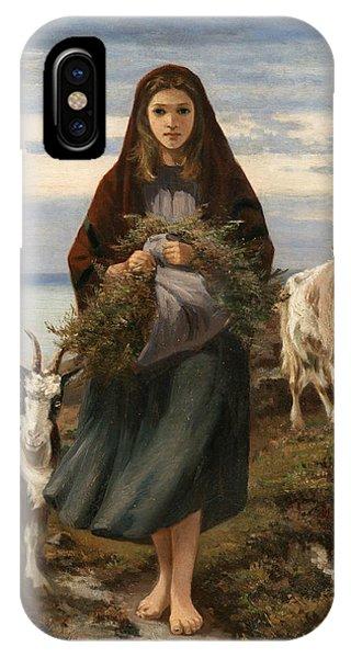 Irish iPhone Case - Connemara Girl by Augustus Nicholas Burke